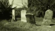 Retro Graveyard 2 Stock Footage