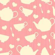 teatime background - stock illustration