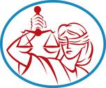 Lady holding up scales of justice Stock Illustration