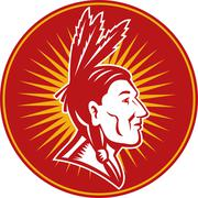 Stock Illustration of native american indian chief