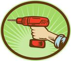 Hand holding a cordless drill side view Stock Illustration