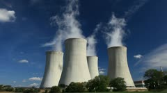 Cooling tower Stock Footage