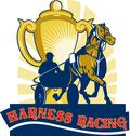 Harness horse race racing championship cup Stock Illustration