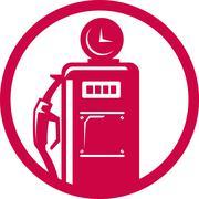 Stock Illustration of gasoline pump filling station