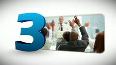Countdown of business people Stock Footage
