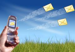 Stock Illustration of sending message.