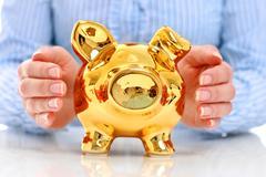 Piggy bank. Stock Photos