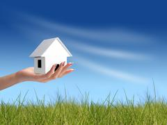Buy new house. Stock Photos