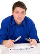Guest of restaurant on diet Stock Photos