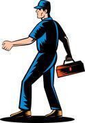 Mechanic tradesman repairman Stock Illustration