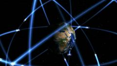 Satellite constellation animation Stock Footage