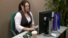 Computer problem in the office Stock Footage