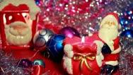 Santa Claus decoration Stock Footage