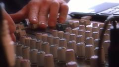man dj and mixer - stock footage