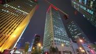 Skyscrapers in Beijing. Timelapse Stock Footage