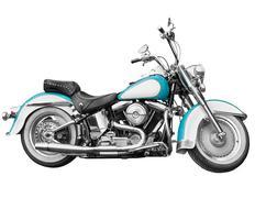 Vintage motorcycle - chopper on white Stock Photos