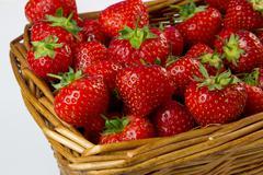 Stock Photo of basket of strawberries