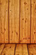 Wooden texture with knots and cracks Stock Photos