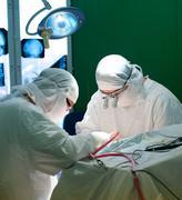 Real brain surgery Stock Photos