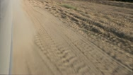 Car Dust Dirt Road Stock Footage