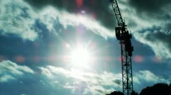 Crane clouds timelapse Stock Footage