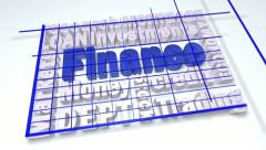Finance text word cloud Stock Footage