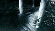 Female ghost - horror scene Stock Footage