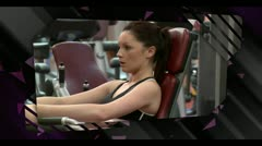 Montage of gym clips Stock Footage