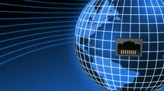 World Connection animation Stock Footage
