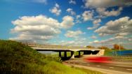 Stock Video Footage of sky clouds traffic highway