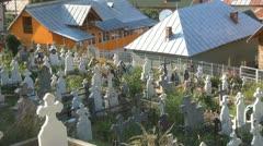 Orthodox Cemetery, Graveyard, Cross, Churchyard Stock Footage