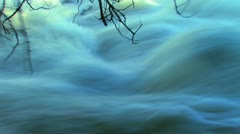 Water Rushes By Stock Footage