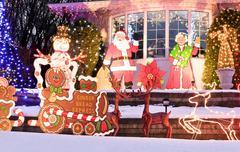 festive bungalow - stock photo