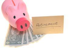 piggy bank for retirement - stock photo