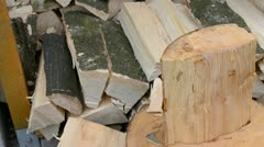 Wood columns Stock Footage