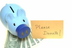 Piggy bank for donate Stock Photos