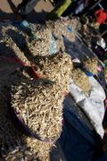 African Market Dried Fish - stock photo