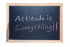 Attitude is everything Stock Photos