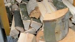Make firewood Stock Footage