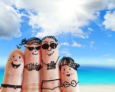 Stock Illustration of finger family