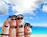 Finger family Stock Illustration