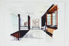 Stock Illustration of sketch of a bathroom