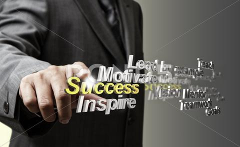 Stock Illustration of 3d metallic success diagram as concept