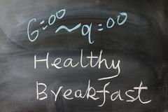 Stock Photo of healthy breakfast words
