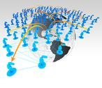 Stock Illustration of social network concept in 3d