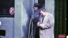 HOMELESS MEN Alcoholic GREAT DEPRESSION 1930s (Vintage Film Home Movie) 4743 - stock footage