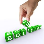 Stock Illustration of 3d word solution