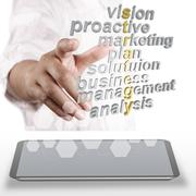 Stock Illustration of 3d strategy business and related words