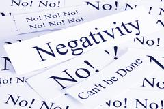 negativity concept - stock photo