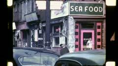 Street Scene NEW YORK CITY Late 1940s (Vintage Retro Film Home Movie) 4746 Stock Footage